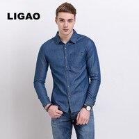 Men's Jean Shirt Men Denim shirts Washable Slim Men's Casual Denim Shirt Long Sleeve Blue Size S-3XL camisa masculina