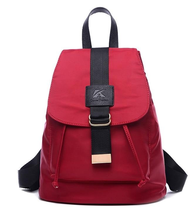 2016 portable leisure waterproof nylon oxford schoolbag College backpack women travel bag 4 colors 5017