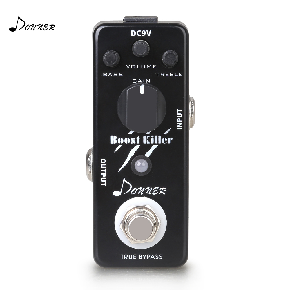Donner Guitar Effect Pedal True Bypass Boost Killer Rich Distortion Sound Guitar Accessories