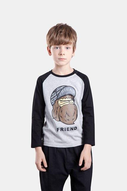 NOVATX бренд мальчик футболка детская одежда мальчика с длинным рукавом О-Образным Вырезом с длинным рукавом шаблон мультфильм детская одежда