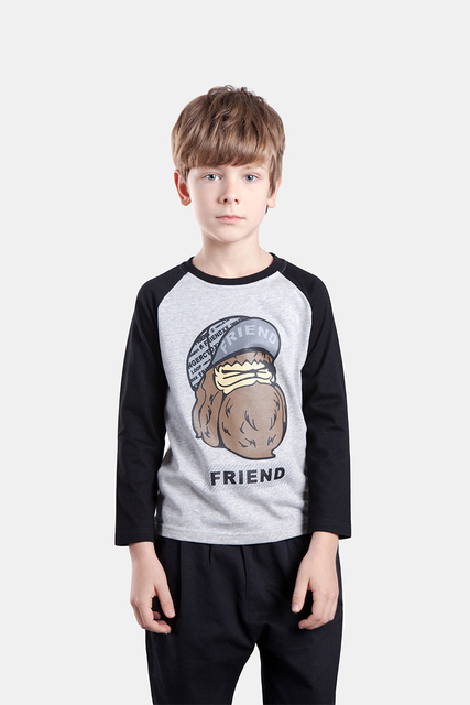 NOVATX brand boy t-shirt baby boy clothes long sleeve O-neck long sleeve pattern cartoon  children clothes