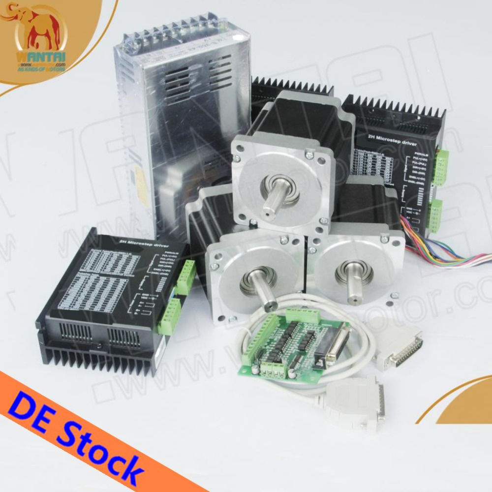 цена на EU Free from Germany Warehouse! Wantai 3 Axis Nema23 Stepper Motor 57BYGH633 270oz 78mm 6 wires+Driver DQ542MA 4.2A 50V 125Micro