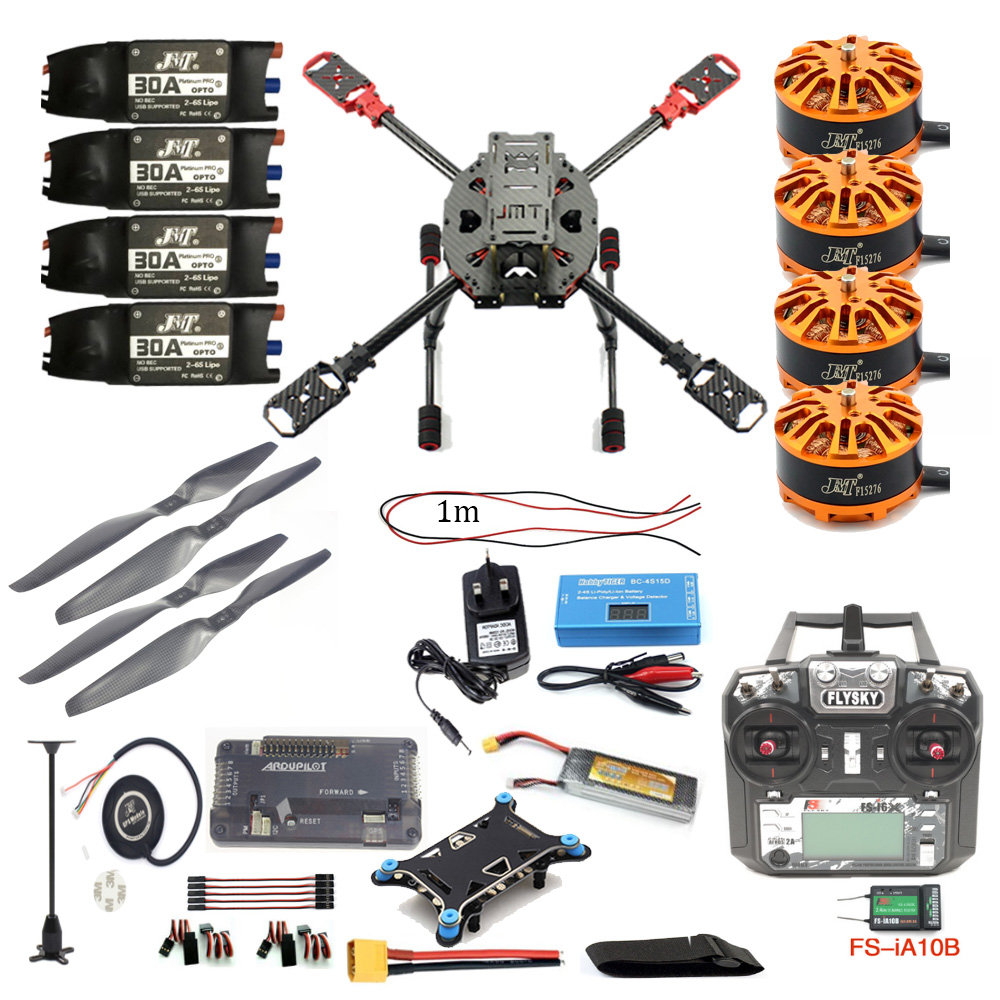 Full Set DIY 2.4GHz 4-Aixs RC Drone 630mm Frame Kit APM2.8 Flight Controller with FS-i6X TX RX Brushless Motor ESC Altitude Hold diy fpv mini drone qav210 zmr210 race quadcopter full carbon frame kit naze32 emax 2204ii kv2300 motor bl12a esc run with 4s