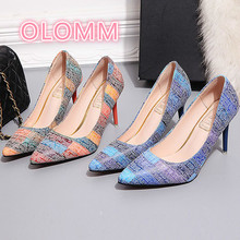 2019 Spring  summer new high with Ms. Single shoes bridesmaid fashion fine heel pointy heels