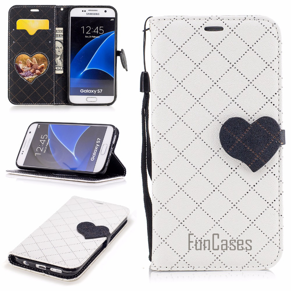 Case sFor fundas Samsung Galaxy S7 Case Cover G930 G9300 for Galaxy S7 Case 5.1 inch + Card Holders Smsung telefonni samsugn