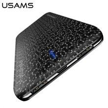สำรองสำหรับxiaomi Mi, USAMSธนาคารพาวเวอร์อัลตร้าบาง10000มิลลิแอมป์ชั่วโมงPower BankสำหรับiPhone 4 5 6 7 SEโทรศัพท์มือถือแบตเตอรี่ภายนอก