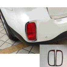 Per Kia Sorento 2013-2014 del corpo di automobile posteriore posteriore nebbia della lampada della luce del rivelatore telaio bastone styling ABS Bicromato di Potassio della copertura finiture accessori 2 pz