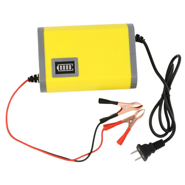 Free shipping Portable Adapter Power Supply 12V 6A Motorcycle Car Auto Battery Charger US Plug Intelligent Charging Machine