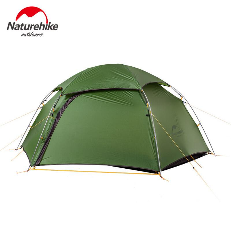 NatureHike Ultralight Camping Tent Aluminum Pole 20D Waterproof Tents 2 Perosn Outdoor 4 Season Hiking Tent Tourist NH17K240-Y