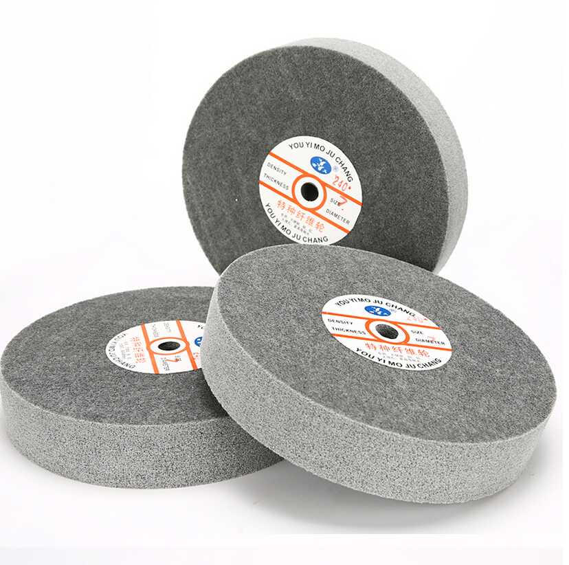 Metal polishing wheel 250*50mm 7p Nylon Fiber polishing wheel Abrasive disc Grinding wheel fiber polishing buffing wheel grit nylon abrasive 25mm thickness 7p hardness 32mm id