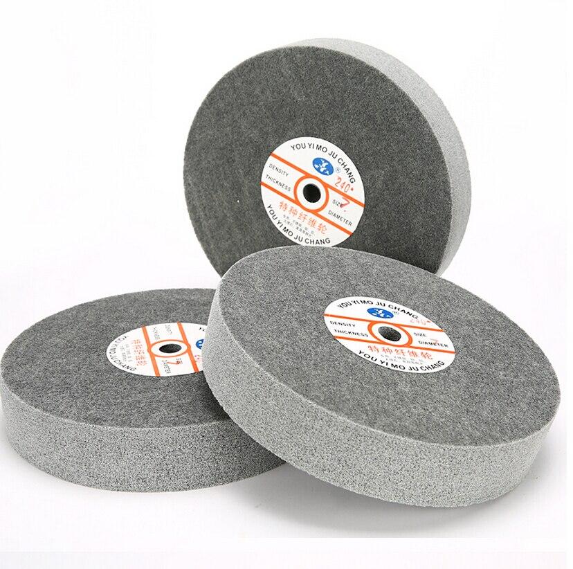 Meule de polissage en métal 250*50mm 7 p roue de polissage en Fiber de Nylon meule Abrasive