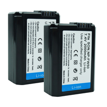 2PCS NP-FW50 Camera Battery 2000mAh batteries npfw50 NP FW50 for Sony Alpha 7 a7 7R a7R a6500 a6300 a6000 a5000 a3000 NEX-3 a7R цены онлайн