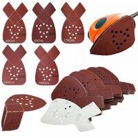 DWZ 50pcs 40 80 120 180 240Grit Mouse Sanding Sheets Sander Pads For Black Decker