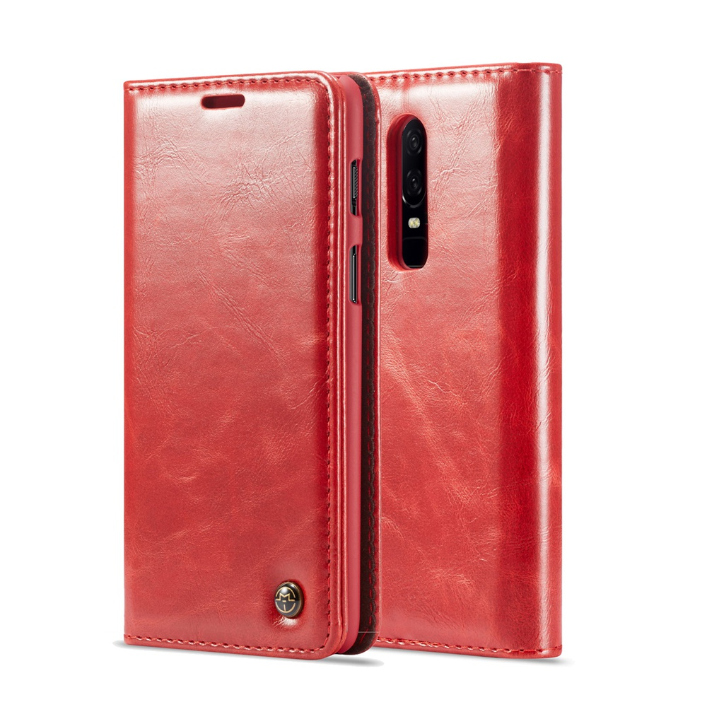 <font><b>Original</b></font> CaseMe Phone Case For <font><b>OnePlus</b></font> 6 Luxury Durable Leather Magnetic <font><b>Flip</b></font> Wallet Stand Case <font><b>Cover</b></font> For <font><b>OnePlus</b></font> 1+6 (6.28inch) image
