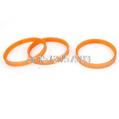 PU 240mm Girth Electric Planer Drive Driving Belt for Makita 1900B 3PCS