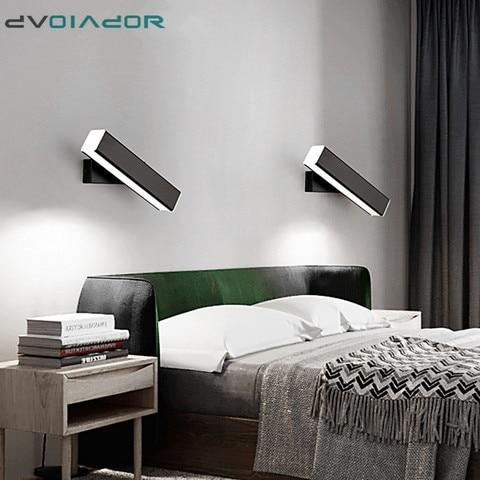 nordico moderno lampada de parede led aluminio ao ar livre indoor ip65 led girado led