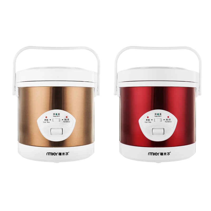 Mini 1.2L Rice Cooker 220V 200W Multifunctional Cook Rice Porn&Soup Automatic Temperature Control Food Warmer Stain Steel good rice cooker electric pressure cooker pot temperature sensor magneticsteel lirait temperature device kitchen appliances