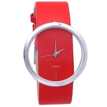 New Women Watches Minimalist Transparent Dial Leather Buckle Women Dress Wrist Watch Casual Female Quartz Wristwatches все цены