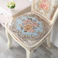 Inverno engrossar cadeira coxim qualidade almofadas de assento pode ser fixado na cadeira assento almofada antiderrapante decoração de escritório em casa almofada 44*46cm 1pc