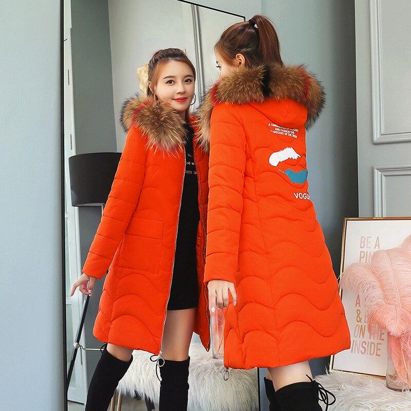 2018 rose Cheveux Vêtements or Nouveau Plume Aaay180802 Grand Montré Hiver Coton rouge Longtemps Noir Col Manteau rq6x8rw