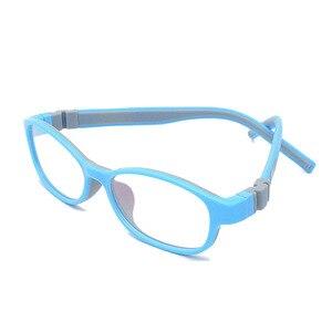 Image 2 - ราคาโรงงานแฟชั่นเด็กซิลิโคนกรอบแว่นตาแสงสกรูไม่มีแตกชายหญิงที่มีห่วงโซ่ขนาด48 15 130 Y1072