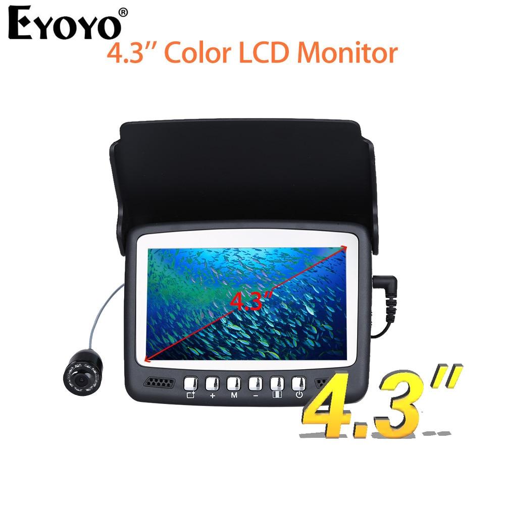 Eyoyo Original 15М 1000TVL Рыбоискатель Эхолот Подводная камера для подлёдного лова 4.3  Камера с ЖК-дисплеем Козырька в подарок