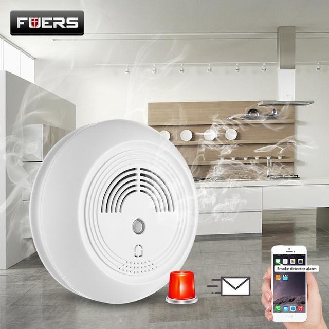 FUERS Drahtlose SMS GSM Feuer Alarm System Laut Strobe Blinklicht Sirene Rauchmelder Sensoren Fur Home Lager