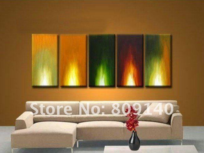 Free Shipping Oil Painting Canva Abstract Torch High Quality Handmade Modern Home Decoration Office Hotel Bar Wall Art Decor New In Calligraphy