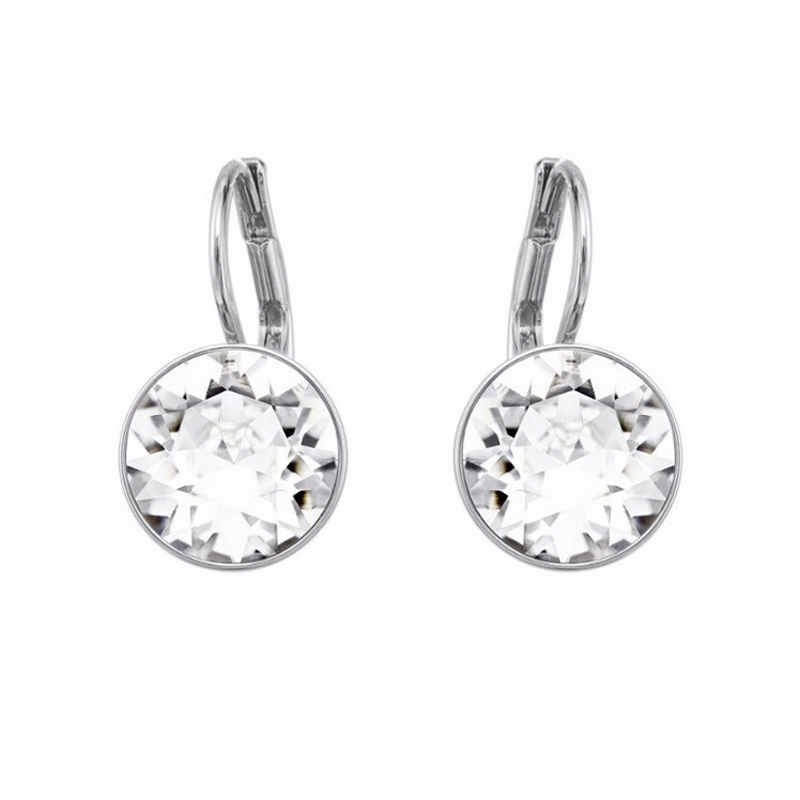 Bella Piercing Round Earrings Made With Swarovski Elements Clear Crystal From Stud For Women In Drop Jewelry Accessories