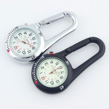 ALK Fob Clip Carabiner Pocket Watch Fob Medical Sports Watches Vintage Nurse Clock Mountaineering Sports Equipment Dropshipping