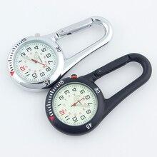 ALK Fob Clip karabinek kieszonkowy zegarek kieszonkowy medyczne zegarki sportowe Vintage pielęgniarka zegar sporty górskie sprzęt Dropshipping
