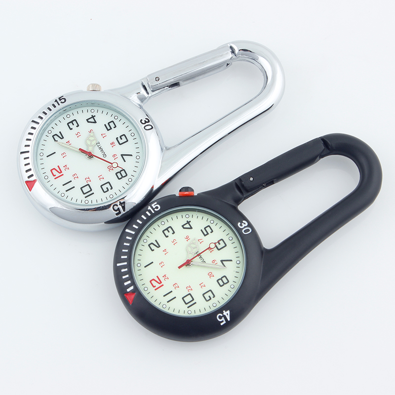 ALK Fob Clip Carabiner Pocket Watch Nurse Fob Medical Sports Watches Vintage Clock Mountaineering Sports Equipment Dropshipping