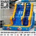Océano niños toboganes inflables parque de atracciones, diapositiva con piscina