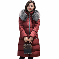 Women Winter Jacket Plus Size 5XL 2017 Womens Jacket Thick Fur Hooded Long Down Cotton Padded