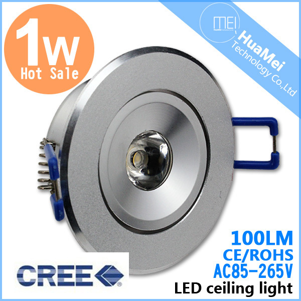 10PCS/Lot LED Ceiling Downlight 1W LED Spot Lamps Cool Warm White Ceiling Lamps AC85-265V Aluminum Ceiling Spot lamps