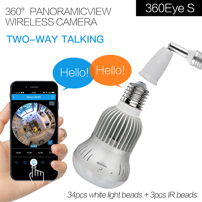 2in1 IR&White Light  360 Degree 1080P Panoramic IP Camera 2in1 IR&White Light  360 Degree 1080P Panoramic IP Camera