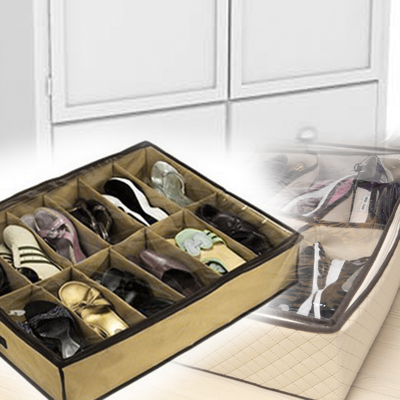 12 Pairs Organizer Storage Bed Closet Bag Box Save Your Space
