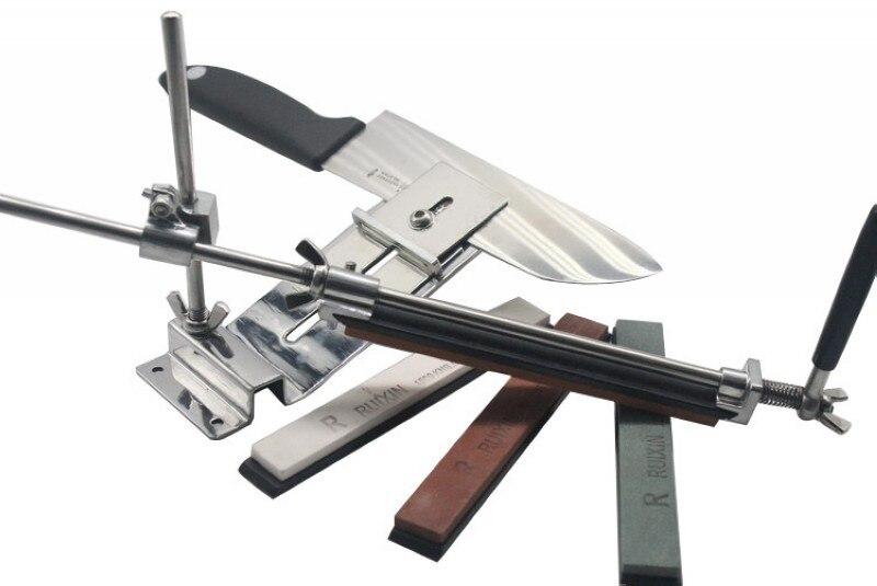 5 ensembles/lot aiguiseur de couteau à angle fixe de haute qualité en alliage d'aluminium 4 pierres à aiguiser