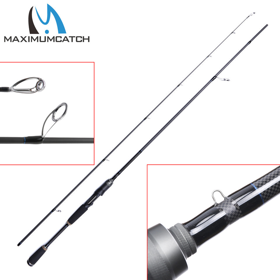 Maximumcatch Spinning <font><b>Rod</b></font> 2.13M/7FT Lure Weight 1/<font><b>4</b></font> oz - 3/4oz Fast Action 2 Pieces Carbon Fiber Fishing <font><b>Rod</b></font>