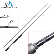 Maximumcatch Spinning Rod 2.13M/7FT Lure Weight 1/4 oz - 3/4oz Fast Action 2 Pieces Carbon Fiber Fishing Rod