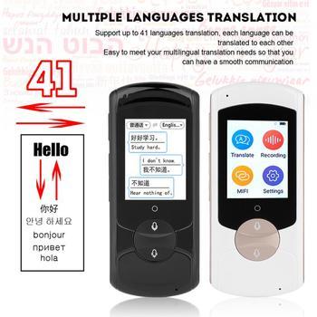 Tradutor de voz inteligente portátil WIFI 41 idiomas Tradução em tempo real Tradutor multilíngue para estudo de reuniões Trarvel 2018 1