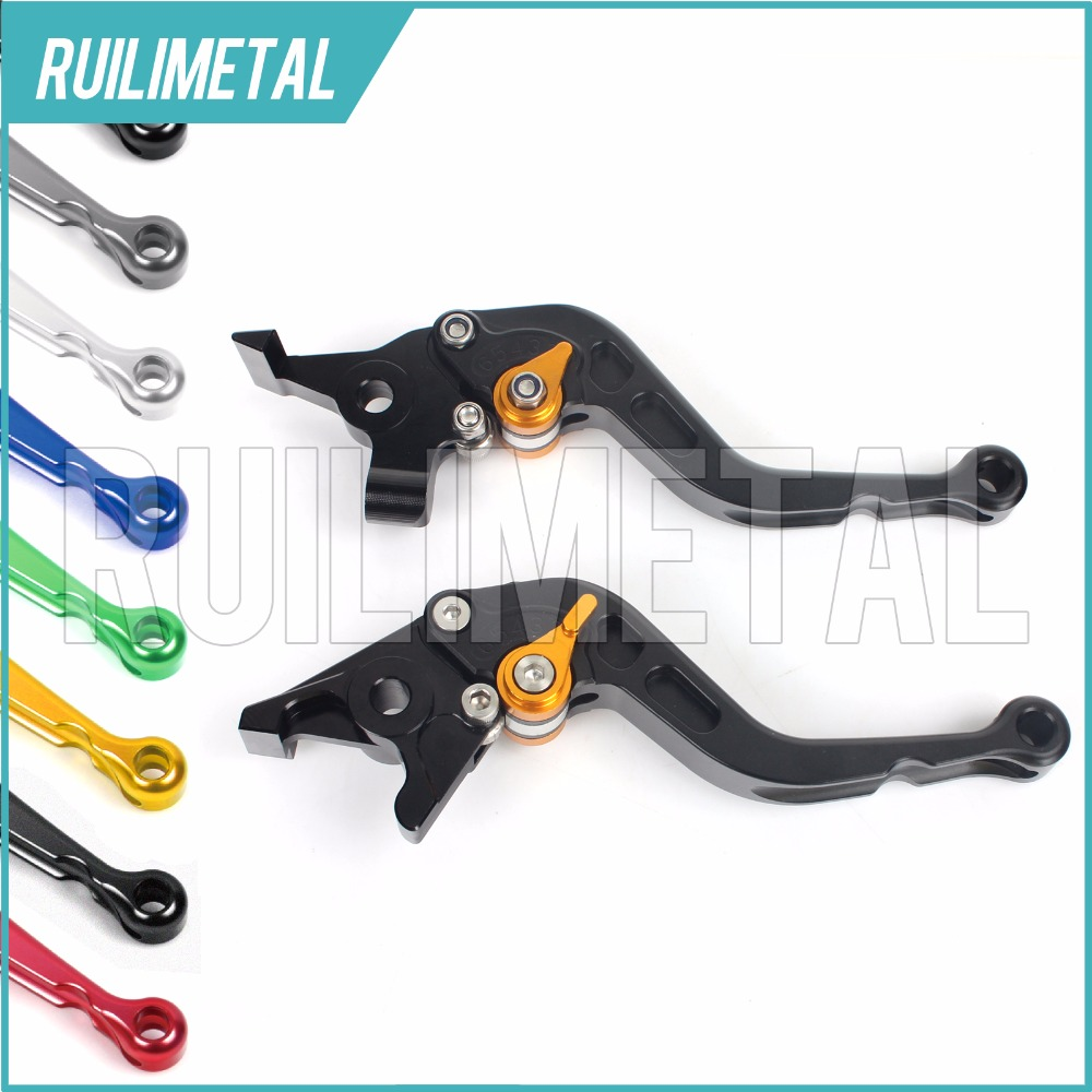 Adjustable Short straight Clutch Brake Levers for MOTO GUZZI Bellagio 940 Breva Griso 1100 05 06 07 08 09 10 11 12 cnc short clutch brake levers for moto guzzi griso breva 1100 norge 1200 gt8v