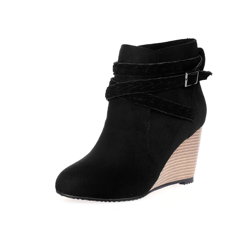 Compare Prices on Brown Suede Wedge Ankle Boots- Online Shopping ...