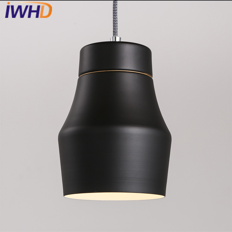 IWHD Modern Pendant Lights Home Lighting LED Hanging Lamp Black White Bedroom Living Room Cafe Iron Luminaire Suspendu Lampara led ceiling pendant lamp black white red color indoor home decoration modern led light lighting luminaire