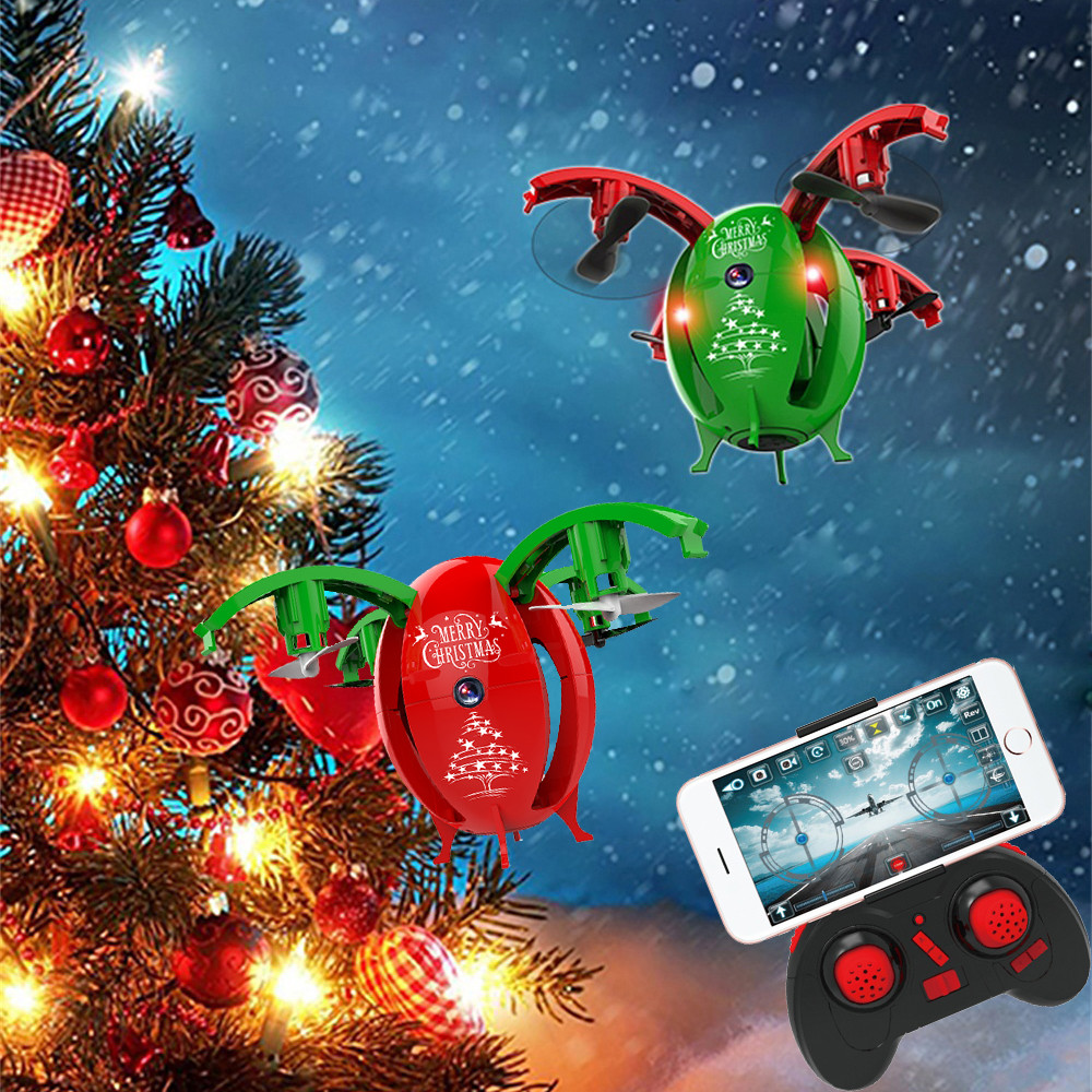 Hiinst Foldable Flying Egg Drone 2.4G Selfie Drone RC Quadcopter With 0.3MP Camera WIFI FPV Altitude Hold RC Quadcopter Gifts jjrc h37 elfie rc quadcopter foldable pocket selfie drone with camera
