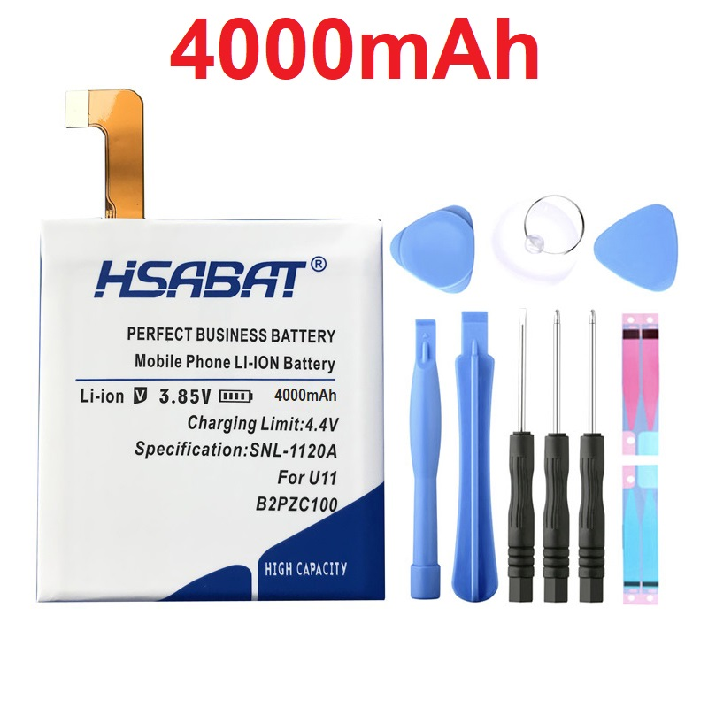 HSABAT B2PZC100 4000mAh Battery For HTC U11 U-3U Batteries