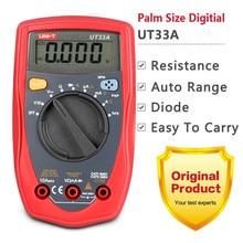 Big sale Mini Palm Size UNI-T UT33A UT33B UT33C UT33D Digital Multimeter Auto Range AC/DC Current Transistor Tester LCD Display Handheld