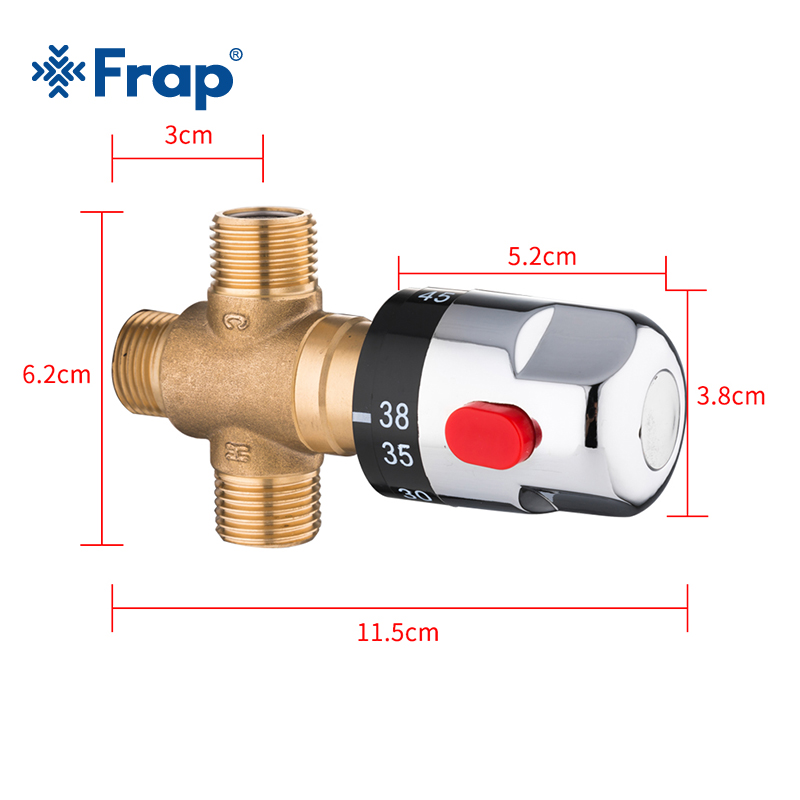 Frap Brass Thermostatic Mixing Valve Bathroom Shower Faucet Temperature Mixer Control Thermostatic Valve Home Improvement Y38058