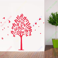 Free Shipping Large Tree Wall Sticker Family Tree Wall Decal DIY Removable Wall Decoration Vinyl Tree Wallpaper