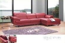 Топ-градуированных итальянский кожаный диван секционные гостиной диван мебель для дома с функциональной подголовник кресла